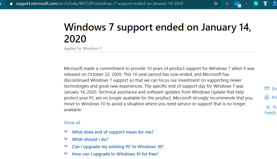 Windows 7 support date 1080x620 - Have you turned off auto update?